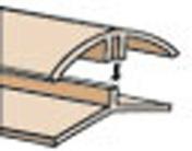 Profil PVC angle int�rieur et ext�rieur clipsable �p.5 � 8 mm long.2,60m blanc - Profil PVC raccord clipsable pour lambris �p.8 � 10mm long.2,60m blanc - Gedimat.fr