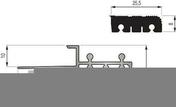 Nez de marche socle alumimium brut incert PVC haut.10mm long.2,50m noir - Accessoires pose de carrelages - Revêtement Sols & Murs - GEDIMAT