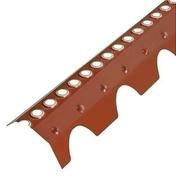 Closoir de faîtage PVC ventilé pour tuile double romane rouge brique - Poinçon coloris rouge nuance - Gedimat.fr