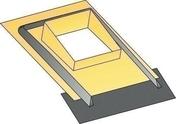 Embase d'étanchéité universelle ocre pour sortie de toit TRADINOV 50 avec bavette en plomb - Porte d'entrée Aluminium YOSEMITE avec isolation totale de 100mm gauche poussant haut.2,15m larg.90cm laqué blanc - Gedimat.fr
