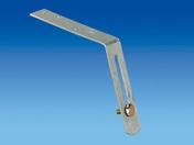 Hampe galvanisée droite pour crochet de gouttière PVC long.développée 235mm - Accessoires de fixation - Couverture & Bardage - GEDIMAT