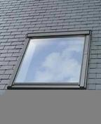 Raccord pour fenêtre VELUX sur ardoises EDL MK04 type 0000 pose traditionnelle - Porte d'entrée NATIV 2 en bois red cedar gauche poussant haut.2,15 larg.90cm - Gedimat.fr