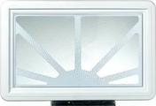 Hublot PVC soleil levant pour porte de garage - Portes de garage - Menuiserie & Am�nagement - GEDIMAT