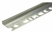 Nez de marche socle 7 à 12 mm aluminium brut long.2,70 m - Plinthe carrelage pour sol en grès cérame émaillé NYC larg.8cm long.45cm coloris bococo - Gedimat.fr