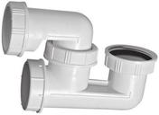 Siphon de baignoire à sortie orientable - Raccord coudé mâle diam.15X21mm pour tuyau multicouche synthétique EASYPEX diam.16mm sous coque de 1 pièce - Gedimat.fr