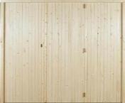 Porte de garage 3 vantaux en bois (sapin) haut.2,00m larg.2,40m - Hublot YDUR en PVC haut.340 larg.210mm pour porte de garage coulissante coloris blanc - Gedimat.fr