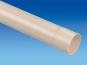 Tube de descente prémanchonné PVC pour eaux pluviales diam.100mm long.4m coloris sable - Double de rive d'égout ROMANE-CANAL coloris vieilli Languedoc - Gedimat.fr