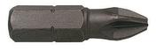 Boite de 2 embouts cruciformes POZIDRIV n°2x25 - Clé à pipe débouchée acier chrome-vanadium 6 pans 10mm - Gedimat.fr