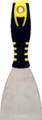 Couteau de peintre américain inox manche bi matière noir/jaune N°3 7,6cm - Outillage du peintre - Outillage - GEDIMAT