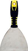 Couteau de peintre américain inox manche bi matière noir/jaune N°5 12,7cm - Protection grande surface trs P728 larg.1,10m long.20m - Gedimat.fr