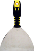 Couteau de peintre type américain inox manche bi matière larg.15,6cm n°6 - Outillage du peintre - Peinture & Droguerie - GEDIMAT