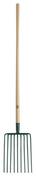 Fourche à cailloux 9 dents larg.26cm manche bois percé long.1,30m - Outillage du jardinier - Plein air & Loisirs - GEDIMAT