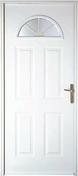 Porte d'entrée MIREII en acier gauche poussant haut.2,15m larg.90cm finition blanche - Portes d'entrée - Menuiserie & Aménagement - GEDIMAT