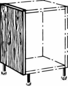Joue basse ANTHRACITE en stratifiée ép.19mm haut.70cm larg.56cm - Meuble de cuisine ANTHRACITE bas 2 portes bp haut.70cm larg.80cm + pieds réglables de 12 à 19cm - Gedimat.fr