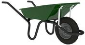 Brouette peinte renforcée 90L AKTIV PREMIUM roue gonflée diam.38cm - Bétonnières - Brouettes - Malaxeurs - Outillage - GEDIMAT