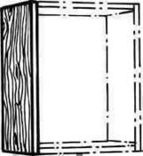 Joue haute BOIS SCIE BLANC ép.19mm haut.70cmlarg.30cm - Meuble de cuisine BOIS SCIE BLANC bas 2 portes bp haut.70cm larg.120cm + pieds réglables de 12 à 19cm - Gedimat.fr