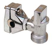 Robinet autoperceur 1/4 tour chromé nez diam.20x27mm pour tuyau cuivre diam.10 à 16mm - Evacuation machine à laver - Plomberie - GEDIMAT
