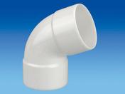 Coude PVC 67°30 FF diam.80mm blanc - Coude PVC 45° MF diam.80mm blanc - Gedimat.fr
