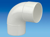 Coude PVC 87°30 MF diam.80mm blanc - Coude PVC 45° MF diam.80mm blanc - Gedimat.fr