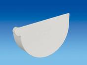 Fond de naissance à coller droit pour gouttière PVC de 25 coloris blanc - Receveur rectangulaire à poser ou à encastrer PRISMA akron haut.3cm larg.80cm long.1,20m slate blanc - Gedimat.fr