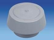 Chapeau de ventilation simple avec moustiquaire pour tuyau PVC diam.100mm coloris gris clair - Accessoires de fixation - Couverture & Bardage - GEDIMAT