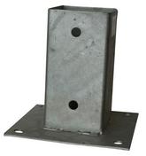 Pied de poteau métallique galva à visser sur platine dim.71x71mm ép.2mm - Bloc béton de chaînage horizontal ép.9cm haut.19cm long.3,00m - Gedimat.fr
