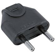 Fiche électrique mâle 2P 6A coloris noir - Fiches - Douilles - Adaptateurs - Electricité & Eclairage - GEDIMAT