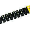 Barette de connexion électrique capacité 6mm² coloris noir barrette de 10 bornes - Borne de connexion électrique automatique capacité 5 conducteurs diam.1 à 2,5mm² en sachet de 10 pièces - Gedimat.fr