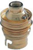 Douille électrique laiton culot à baionnette B22 double bague - Fiches - Douilles - Adaptateurs - Electricité & Eclairage - GEDIMAT