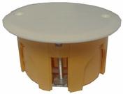 Boîte de dérivation avec couvercle pour cloison creuse ronde diam.65mm prof.40mm vendue sous film - Boîte d'encastrement 1 poste pour cloison creuse diam.67mm prof.40mm - Gedimat.fr