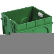 Boîte d'encastrement 1 poste à sceller carrée colorisvert dim.75x75mm haut.40mm sous film 1 pièce - Modulaires - Boîtes - Electricité & Eclairage - GEDIMAT