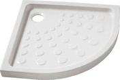 Receveur d'angle à poser ou à encastrer 1/4 de cercle grès ép.7,5cm dim.80x80cm blanc - Profil PVC raccord clipsable pour lambris ép.8 à 10mm long.2,60m blanc - Gedimat.fr