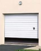 Porte de garage sectionnelle nervur�e motoris�e STAR 20 haut.2,125m larg.2,375m - Portes de garage - Menuiserie & Am�nagement - GEDIMAT