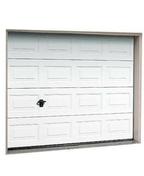 Porte de garage sectionnelle isolante � cassettes �p.20mm haut.2,00m larg.2,375m d�cor wood grain - Portes de garage - Menuiserie & Am�nagement - GEDIMAT