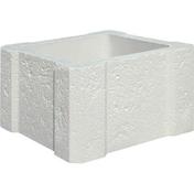 Elément intermédiaire pierre reconstituée pour pilier CHAMBORD 40x40cm haut.23cm 4 pièces - Tuile de ventilation MERIDIONALE + grille coloris brun - Gedimat.fr