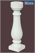 Balustre pierre reconstituée SAN SEBASTIAN 13x13cm haut.50cm coloris blanc - Mamelon laiton brut réduit 245 mâle diam.33x42mm / mâle diam.26x34mm 1 pièce - Gedimat.fr