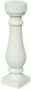 Lisse pour balustrades gamme MEDITERRANEE SAN SEBASTIAN long.49,5cm larg.21cm haut.8cm coloris blanc - Coude laiton fer/cuivre 90GCU femelle diam.15x21mm à souder diam.12mm - Gedimat.fr
