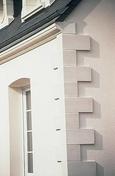 Chaine d'angle pierre reconstituée long.39x39cm larg.24cm ép.3cm coloris pierre - Habillages de façade - Matériaux & Construction - GEDIMAT