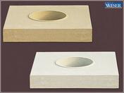 Base de colonne pierre reconstituée cannelée diam.26cm coloris pierre - Poinçon pointe élancée coloris terroir - Gedimat.fr