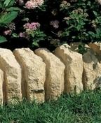 Bordurette RUSTIQUE en pierre reconstituée ép.15cm haut.16cm long.51cm coloris Gironde - Bordures de jardin - Revêtement Sols & Murs - GEDIMAT