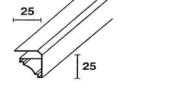 Corniche pour lambris en PVC �p.10mm long.2.70m blanc - Profil PVC raccord clipsable pour lambris �p.8 � 10mm long.2,60m blanc - Gedimat.fr
