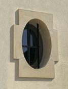 Oeil de boeuf ovale pierre reconstituée 60x90cm coloris blanc - Habillages de façade - Matériaux & Construction - GEDIMAT