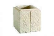 Chapeau pour pilier en pierre reconstitu�e RENAISSANCE dim.+/-45x+/-45cm coloris pierre - Piliers - Murets - Am�nagements ext�rieurs - GEDIMAT