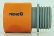 Raccord plastique automatique diam.20x27mm par carte 1 pièce - Tuyaux d'arrosage - Aménagements extérieurs - GEDIMAT