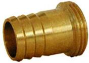 Raccord cannelé en laiton diam.15mm avec collier - Tuyaux d'arrosage - Plein air & Loisirs - GEDIMAT