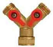 Sélecteur Y en laiton 2 directions avec robinet - Tuyaux d'arrosage - Plein air & Loisirs - GEDIMAT