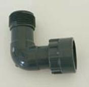 Coude union PVC mâle femelle à écrou tournant diam.26x34mm en vrac 1 pièce - Arrosages enterrés - Aménagements extérieurs - GEDIMAT
