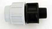 Raccord polypropylène droit pour tuyau polyéthylène Plasson diam.20mm sortie mâle diam.15x21mm en vrac 1 pièce - Arrosages enterrés - Aménagements extérieurs - GEDIMAT