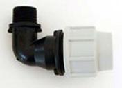 Coude polypropylène pour tuyau polyéthylène Plasson diam.20mm sortie mâle diam.20x27mm en vrac 1 pièce - Arrosages enterrés - Aménagements extérieurs - GEDIMAT