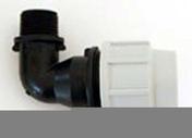 Coude polypropylène pour tuyau polyéthylène Plasson diam.25mm sortie mâle diam.20x27mm en vrac 1 pièce - Arrosages enterrés - Aménagements extérieurs - GEDIMAT